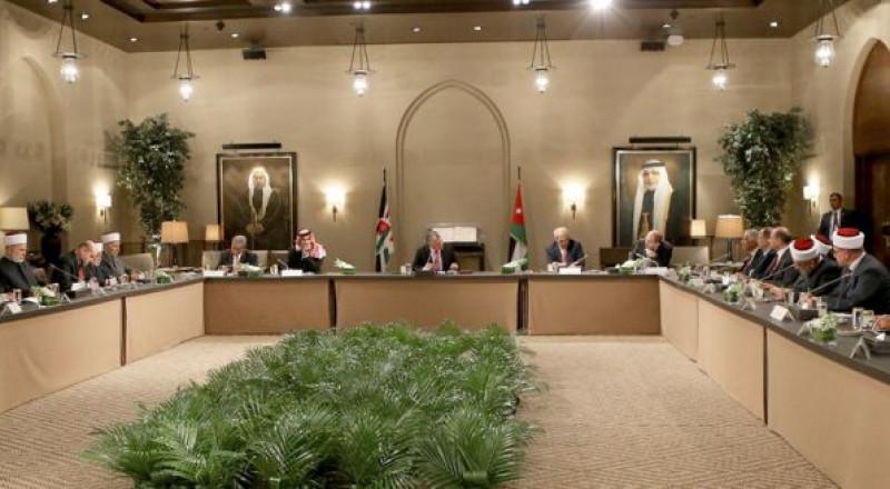 العاهل الأردني يستقبل وفدا من أوقاف القدس
