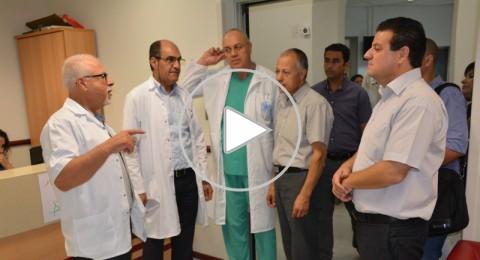النائبان عودة وابو معروف يعدان ببناء جهاز صحي في مستشفى الناصرة