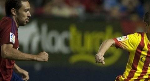 سلسلة انتصارات برشلونة تتوقف بتعادله امام اوساسونا