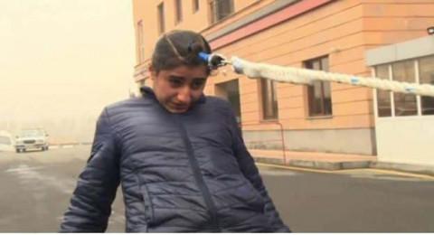 أرمنية تجر سيارة بشعرها.. شاهدوا كيف فعلت ذلك بسهولة