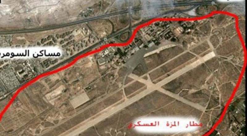 مصادر: إسرائيل قصفت مطار المزه العسكري في دمشق فجر اليوم