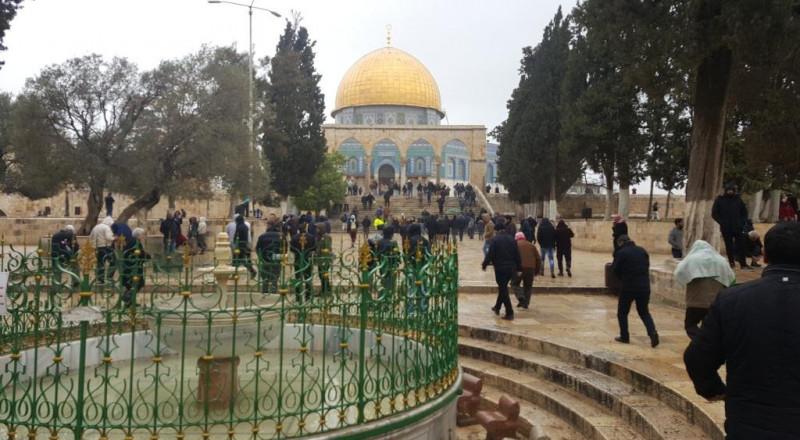 الاوقاف الاسلامية : الاحتلال يعرقل إصلاح تماس كهربائي بالأقصى