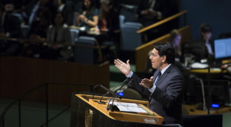 مندوب إسرائيل يطالب الأمم المتحدة بإدانة تصريحات عباس