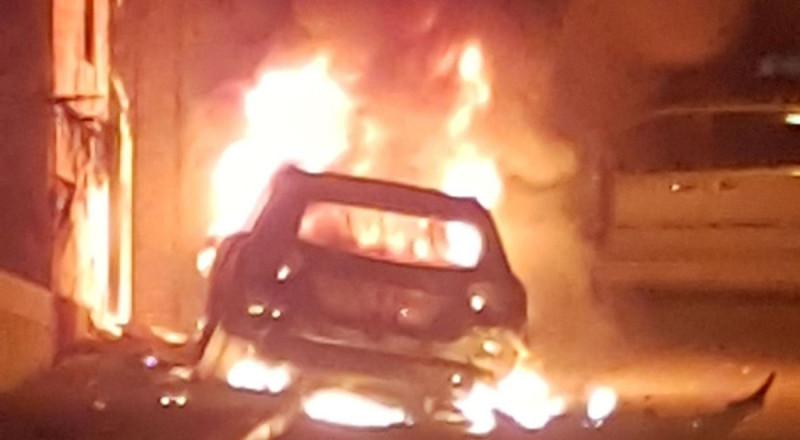 انفجار سيارة في يافا