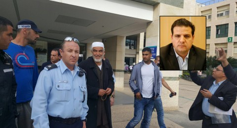عودة يلتقي بركة والشيخ رائد صلاح في محطة شرطة العفولة