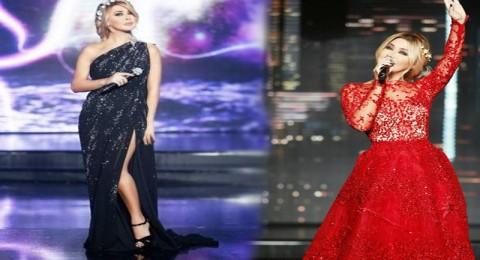 نوال الزغبي نجمة الموضة بفساتين زهير مراد