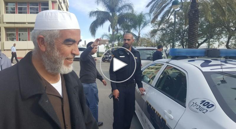 شرطة العفولة تُبعد الشيخ رائد صلاح عن مستشفى العفولة