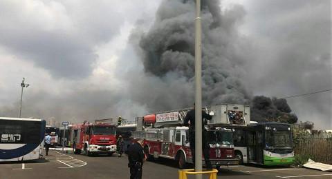 حريق ضخم في يافا والاطفائية تعلن حالة طوارئ