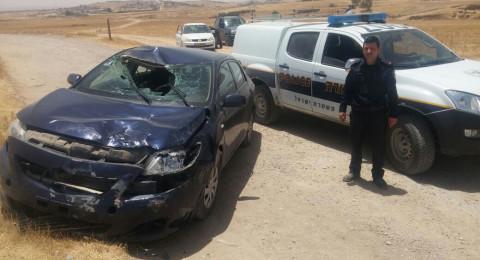 اللقية: حادث طرقات واصابة شاب بصورة بالغة