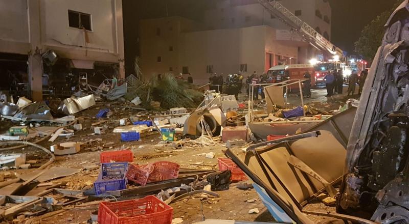 طمرة: انفجار في محل تجاري يؤدي الى انهيار في مبنى بالمنطقة الصناعية