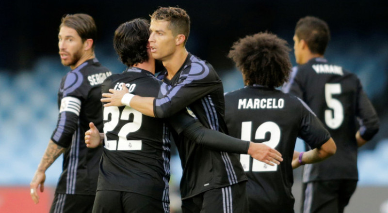 ريال مدريد يهزم سيلتا فيغو ويضع قدما على منصة التتويج