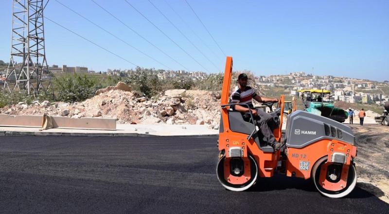 الناصرة: أكبر مشروع تعبيد شوارع تم تنفيذه في حي الورود
