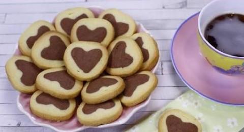 طريقة عمل الكوكيز على شكل قلوب