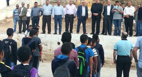 اصابات بالاختناق خلال مواجهات مع الاحتلال في مدرسة اللبن الساوية جنوب نابلس