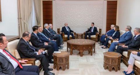 الأسد للجعفري: انتصاراتنا مشتركة