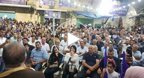 اجتماع انتخابي لعلي سلّام يتحوّل إلى مهرجان في سوق الناصرة