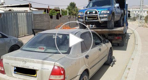 (فيديو) عرعرة النقب: شرطة السير في حملة خاصة، وسائق مع 18 راكبًا