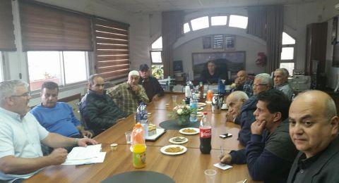 المجلس المحلي الشبلي أم الغنم يجتمع مع دائرة أراضي إسرائيل لتعويض المواطنين التي صودرت أراضيهم مع قيام دولة إسرائيل