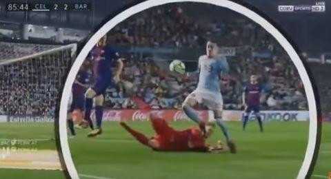 هدف أسباس باليد في شباك برشلونة يثير جدلا في إسبانيا