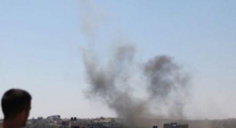 الجيش الاسرائيلي  يقصف  شرق غزة