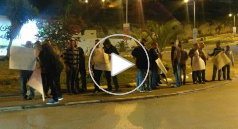 اضراب عام  في ام الفحم حدادا على الاوضاع المؤلمة ومظاهرة امام مركز الشرطة