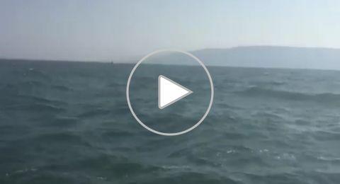 الشرطة المائية تنقذ شابين من اكسال بعد ان دفعتهم الرياح الى عمق بحيرة طبريا