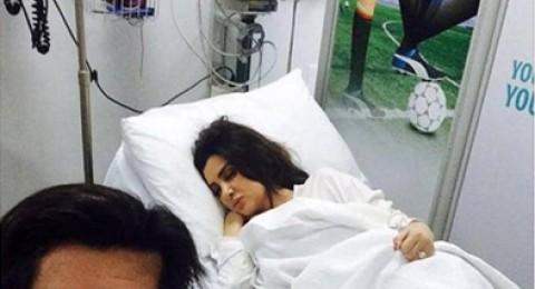 Selfie لميساء مغربي على سرير المستشفى تثير ضجة عارمة