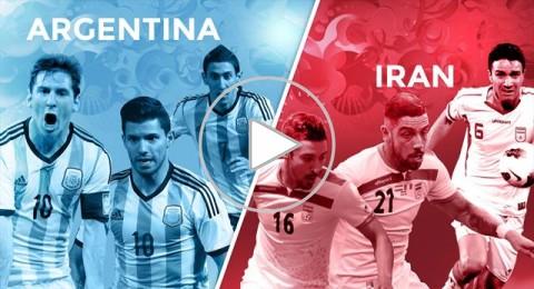 الأرجنتين وإيران ينحيان النزاع السياسي جانبا في مباراتهما بالمونديال البرازيلي