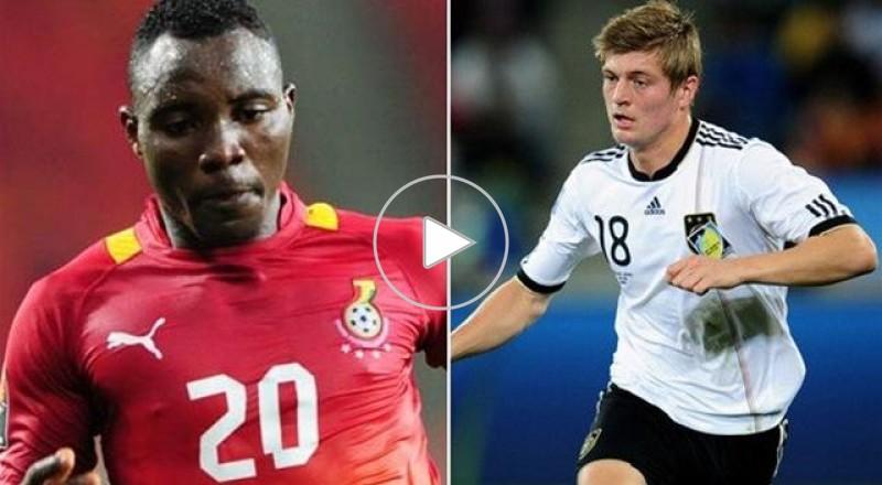 صراع اللاعبين الشباب بين لاعبي وسط ألمانيا وغانا