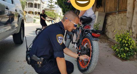 حملة مكثفة لشرطة المرور في تل السبع وشقيب السلام