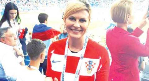 رئيسة كرواتيا تشغل الإعلام العالمي