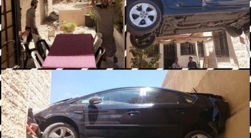 سيارة معلقة في الهواء بالأردن.. ما قصتها؟