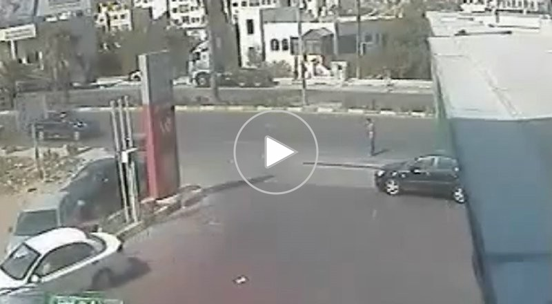 حادث سير طريف على طريق رام الله القدس