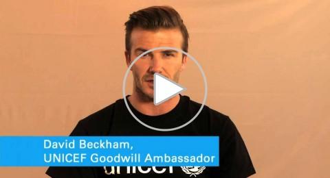 بيكهام يدعو لدعم أطفال سوريا