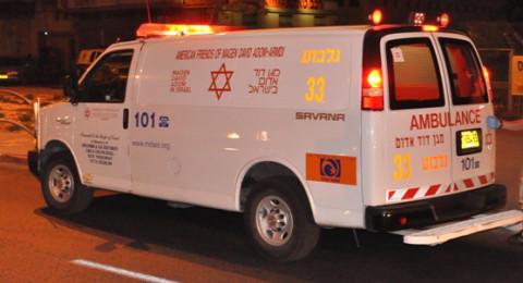 حيفا: حادث طرق ذاتي، واصابة حرجة للسائق