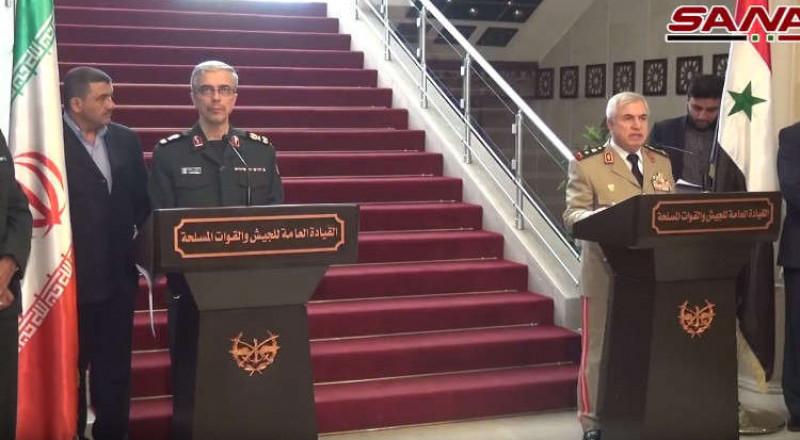 دمشق: باقري يحذر إسرائيل من انتهاك المجال الجوي السوري