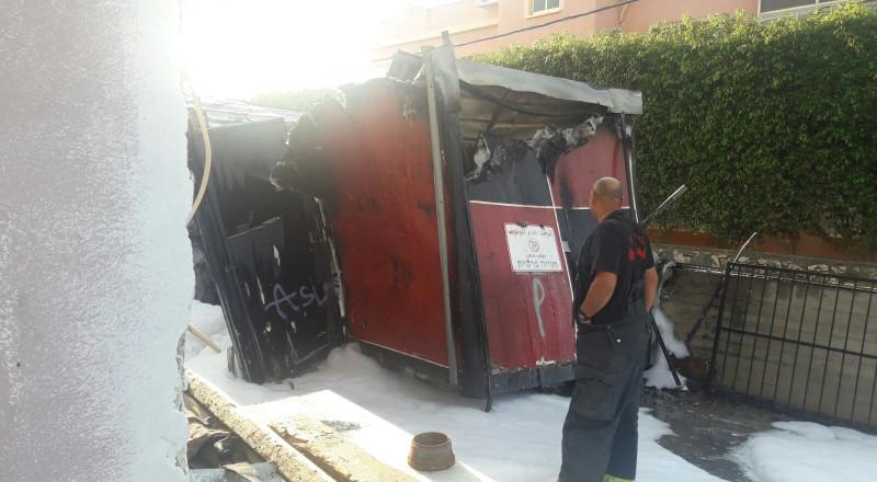 دبورية: حريق وضرر في منزل