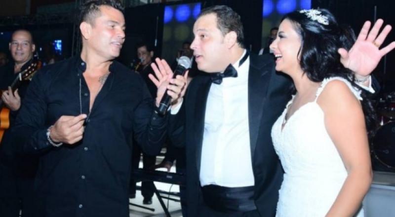 تامر عبد المنعم يحتفل بزواجه الثاني، وعمرو دياب يغني له ولعروسه