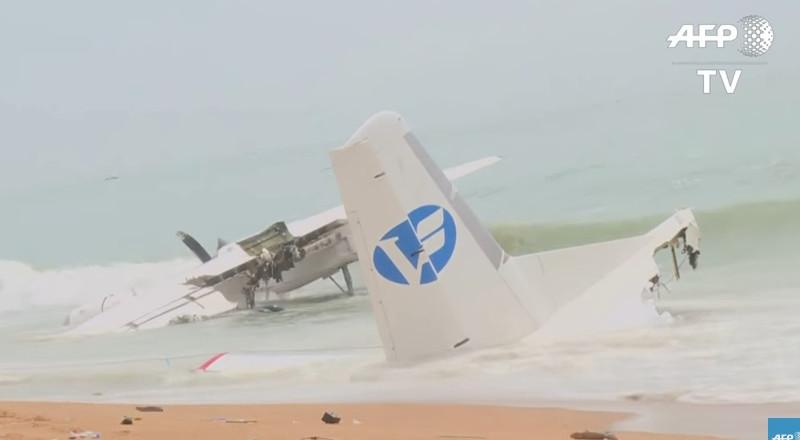 غرق طائرة فرنسية في البحر أمام ساحل العاج