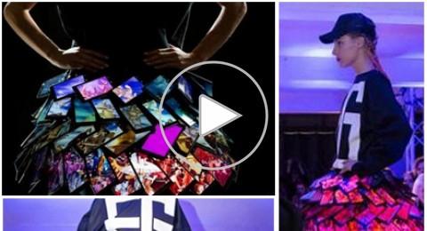 بالفيديو: تنورة مصنوعة من الهواتف النقالة!