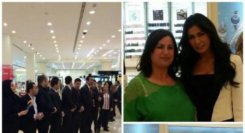 نادين الراسي تلفت الأنظار في إحتفال عيد الأم بأبو ظبي