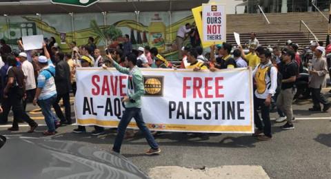 تظاهرات غاضبة بعواصم عربية وإسلامية نصرةً للأقصى
