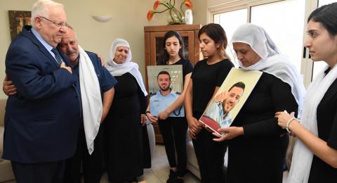 ريفلين يزور عائلتي الشرطيين بحرفيش والمغار: حِلفنا مع أخواننا الدروز هو حِلف حياة