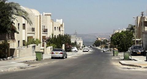 الناصرة: شارع حي الورود جاهز بعد عمل متواصل