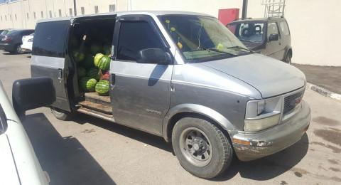 اعتقال شخص من المكر بشبهة سرق البطيخ