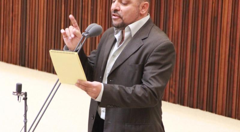 النائب مسعود غنايم يستجوب وزير الاقتصاد إيلي كوهين حول المناطق الصناعية في البلدات العربية .