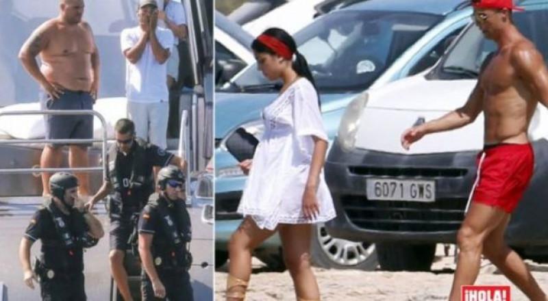 الشرطة الإسبانية تفاجئ رونالدو في يخته!