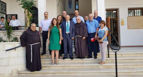 المدير العام لوزارة التعليم، شموئيل أبواب، في زيارة لجهاز التّعليم العربي في حيفا