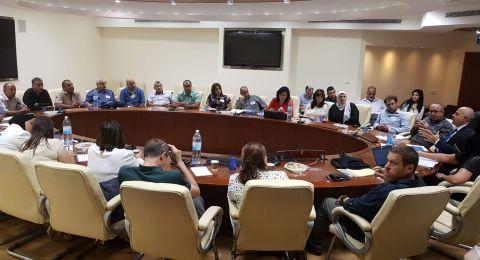 المدير العام للوزارة شموئيل ابواب في لقاء جديد مع مدراء شرقي اورشليم القدس.