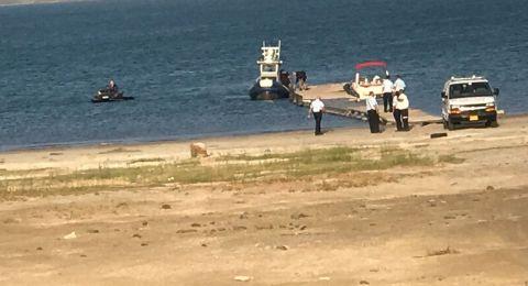 العثور على جثة المفقود في بحيرة طبريا